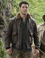 jumanji-2-nick-jonas- leather- jacket