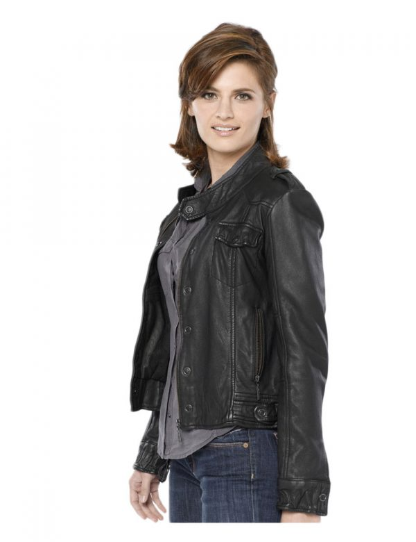 stana-katic-castle-black-leather-jacket