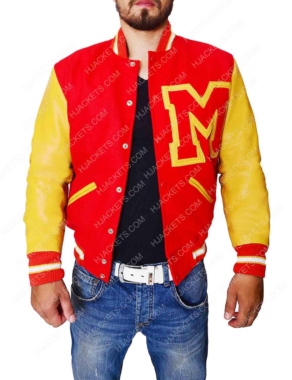 43552aadf88 Michael Jackson Letterman Jacket - M Logo Red Varsity Jacket