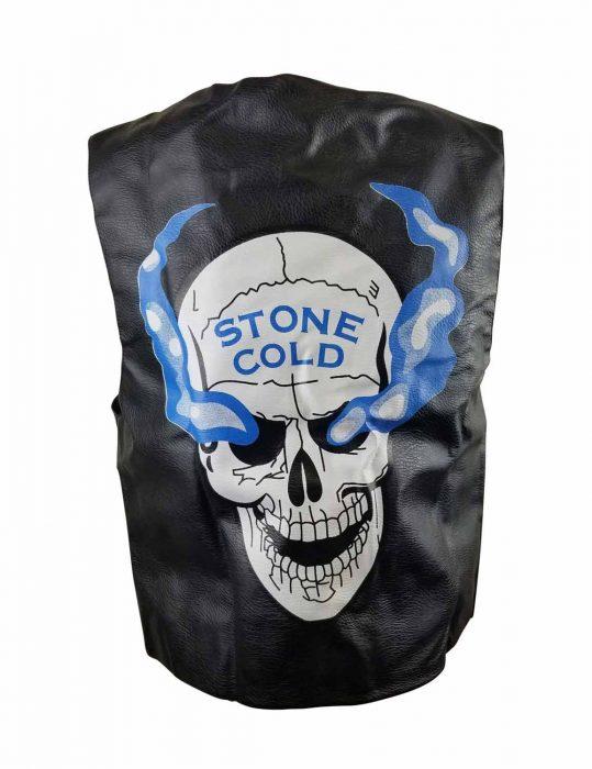 3 16 skull leather vest