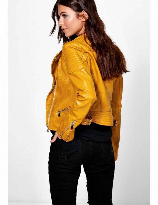 el paso yellow leather jacket