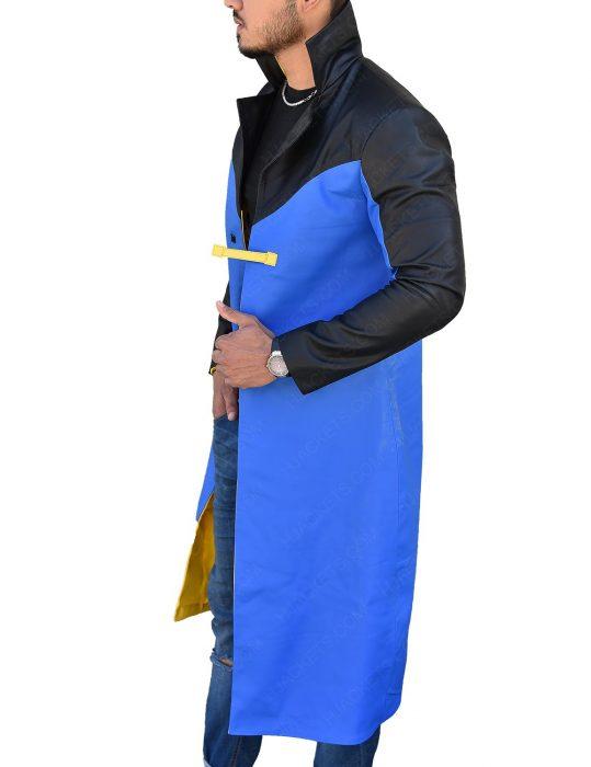 Static Shock Black And Blue Leather Jacket
