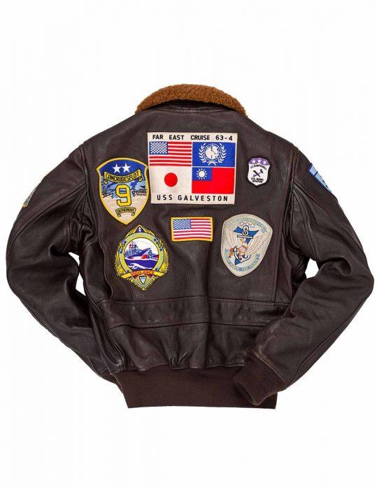 Tom Cruise Top Gun Flight Leather Jacket