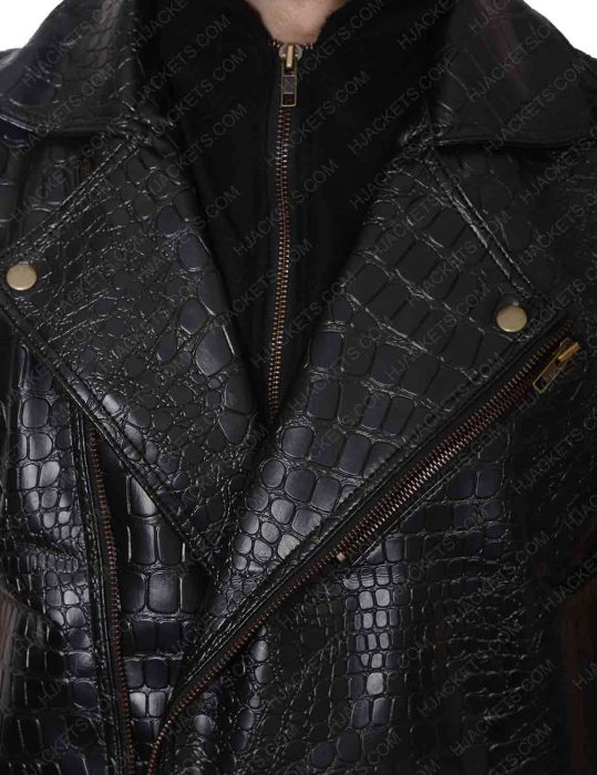 aj styles crocodile leather vest
