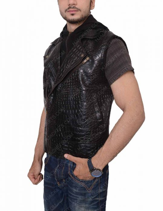 aj styles zipper leather vest