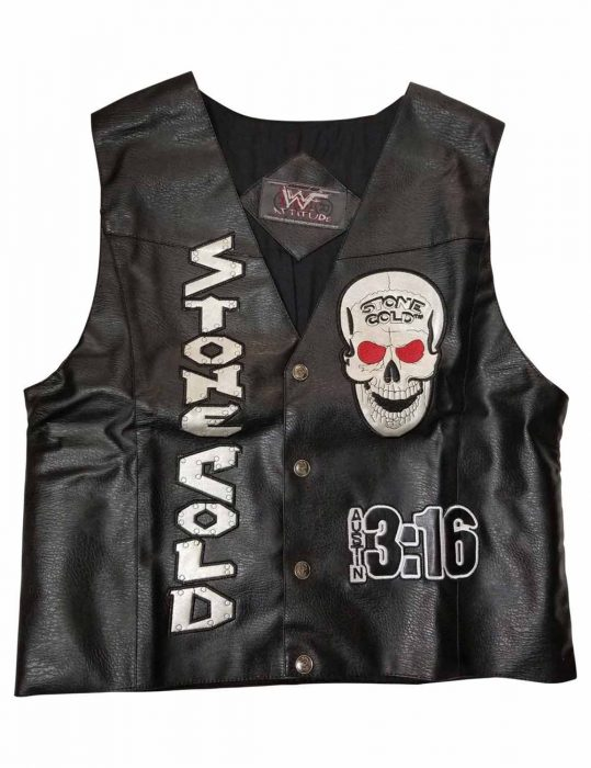 stone cold steve austin leather vest