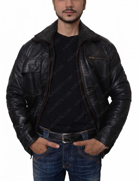 marque richardson leather jacket