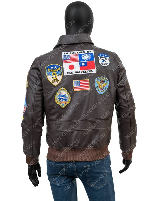 new tom cruise top gun leather jacket