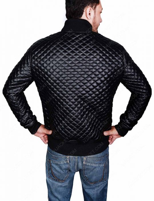 quilted black jacket