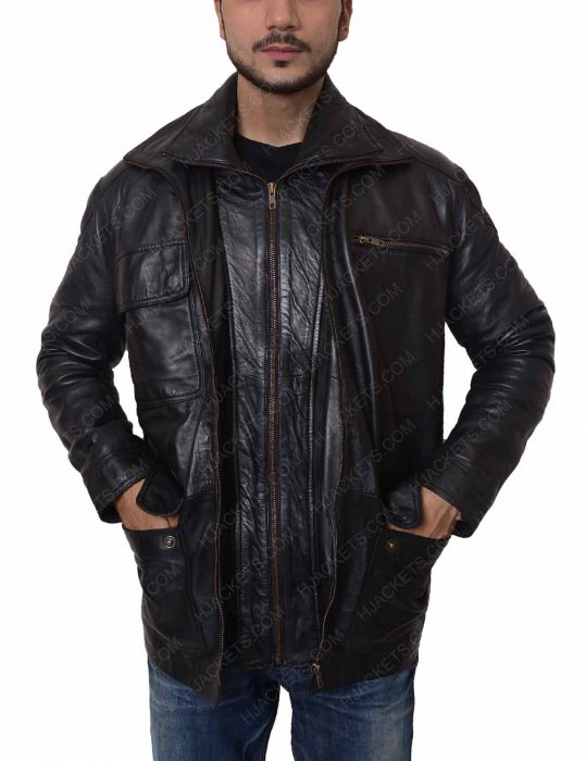 reggie green leather jacket