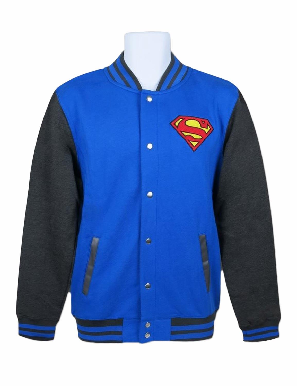 Blue Logo Superman Varsity Jacket Hjackets