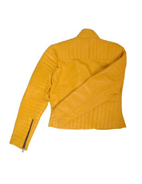 womens-yellow-leather-biker-jacket