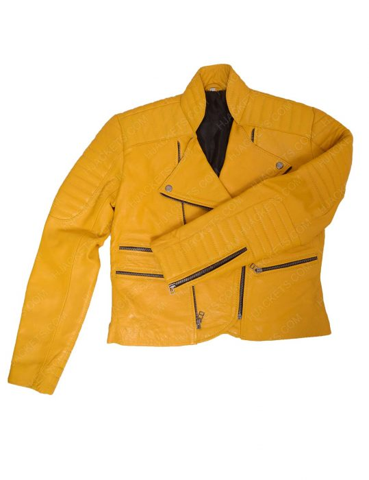 womens-yellow-leather-jacket