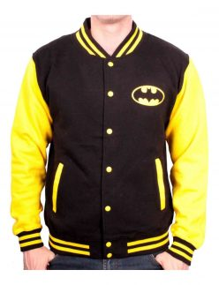 black and yellow batman varsity jacket