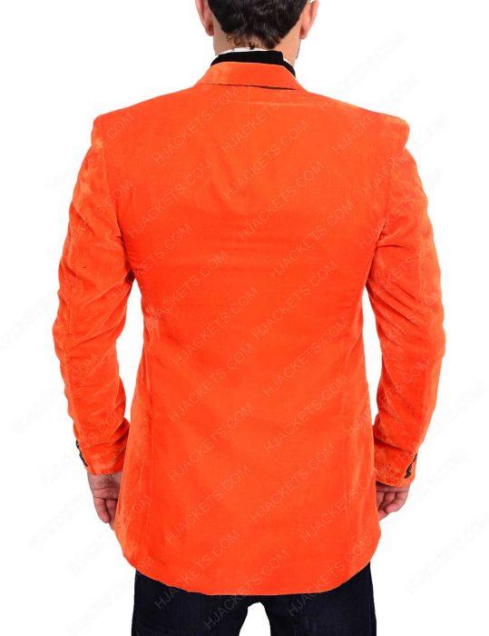 taron egerton orange blazer