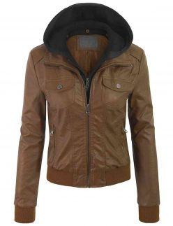 womens removable hood jacket