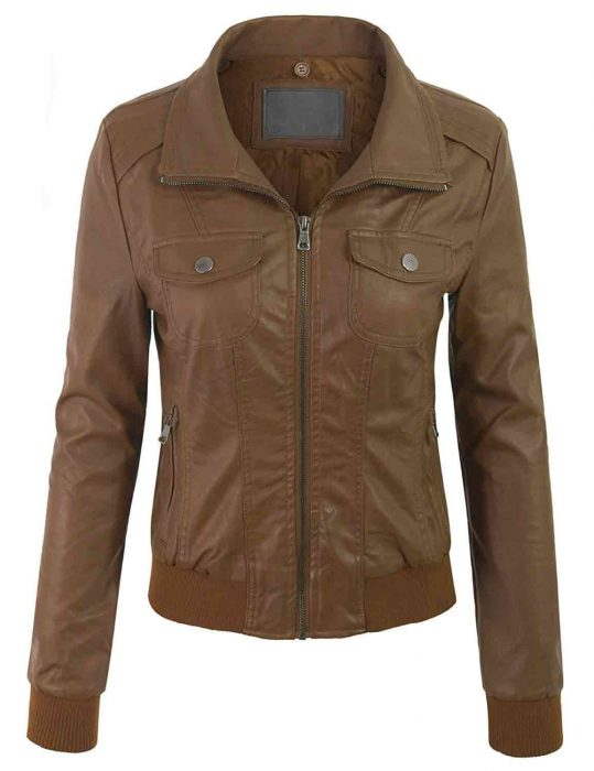 womens bomber hooded jacket