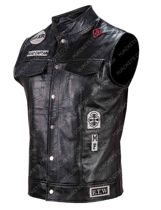 Days Gone Deacon St. John Biker Black Leather Vest