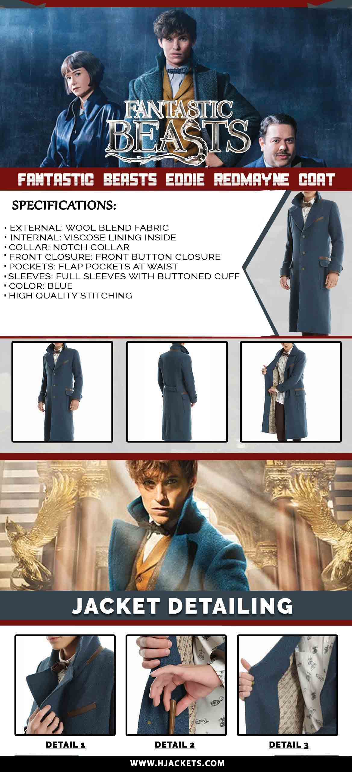 Fantastic Beasts Eddie Redmayne Coat Infographic