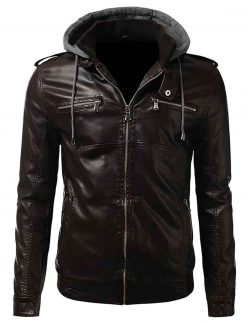 brown slim fit bomber jacket