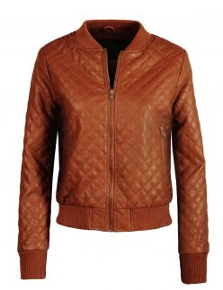 womens quilted varsity bomber jacket