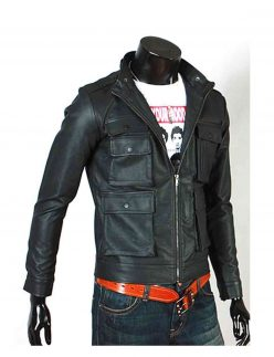 biker slim fit jacket