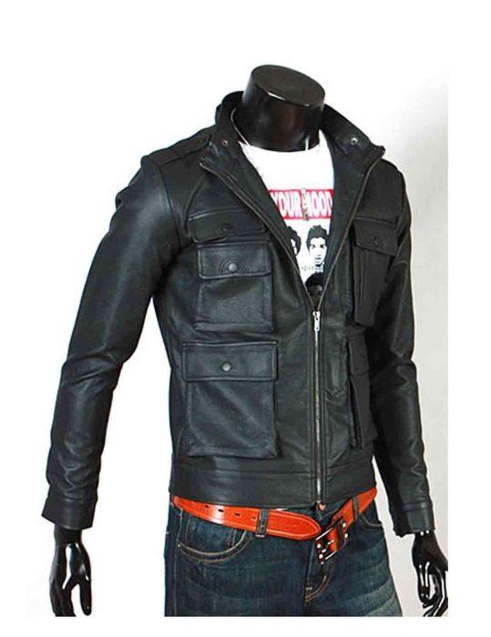 biker slim fit jacket