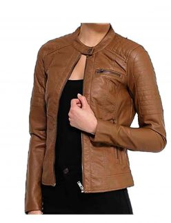 brown soft leather jacket