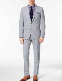 mens gray slim fit suit