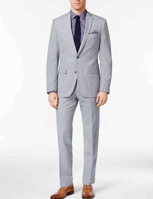 mens gray slim fit suit