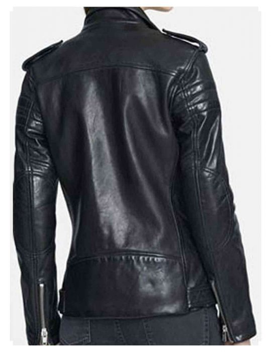black biker womens jacket