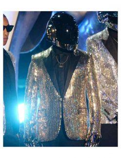 daft punk shining silver blazer jacket