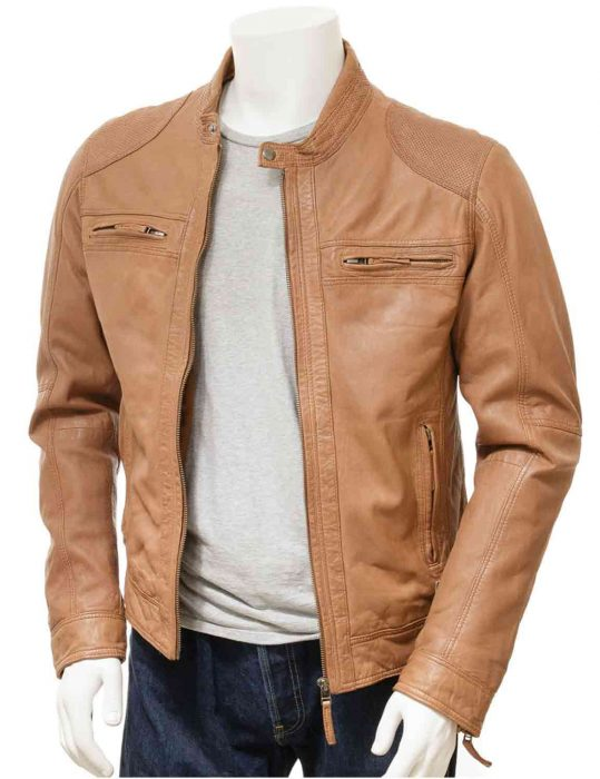 men slim fit brown jacket