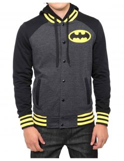 batman black and yellow varsity jacket