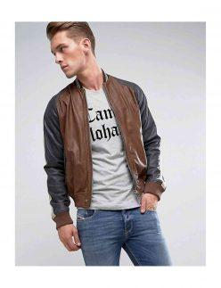 bomber moto style jacket