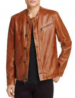 brown leather jacket for mens