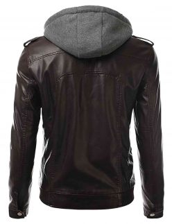 bomber chocolate brown leather jacket