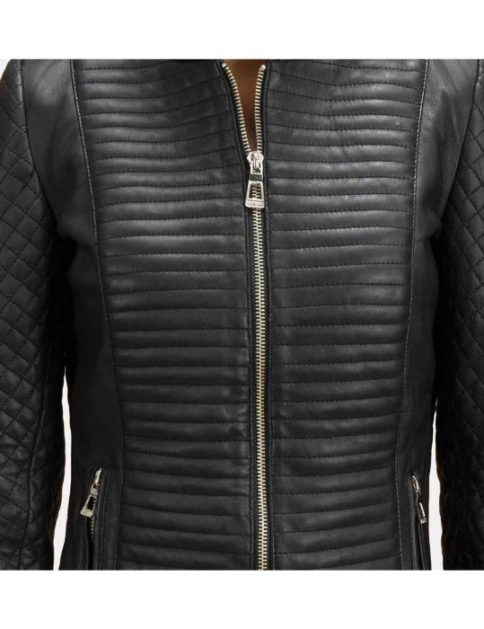 womens black jacket for quilted
