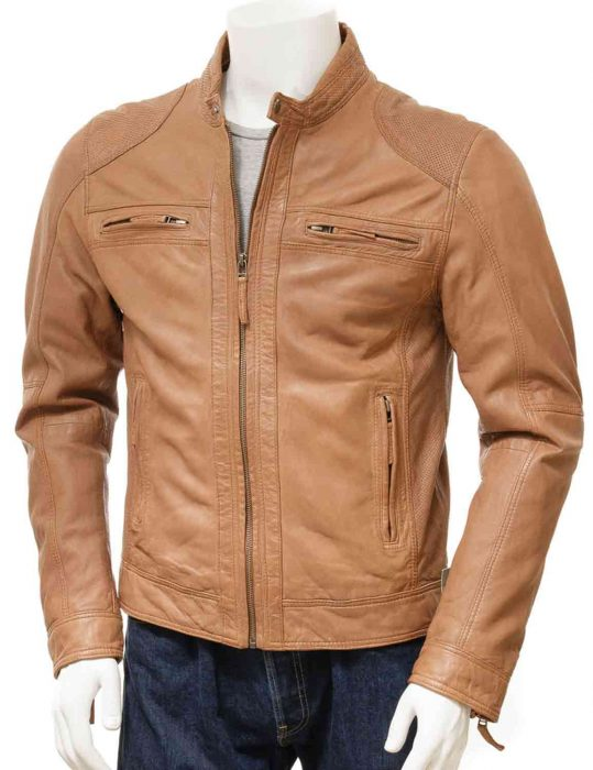 brown slim fit jacket