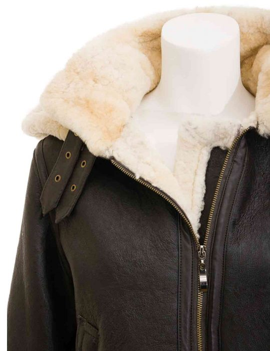shearling brown jacket