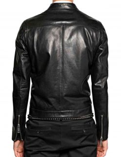 mens asymmetrical zip jacket