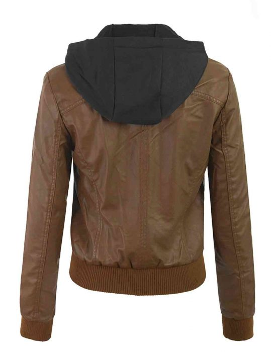 removable bomber hoodie for womens