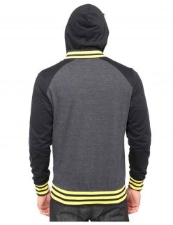 batman yellow and black varsity jacket