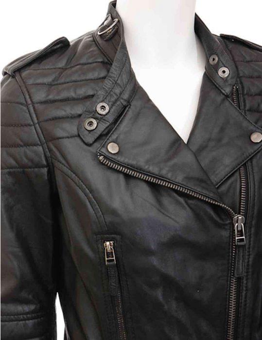 women asymmetrical jacket
