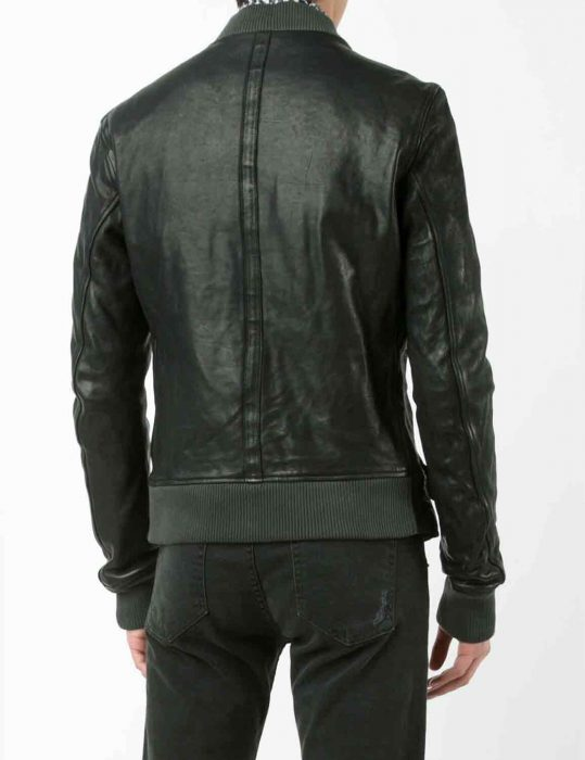 black biker bomber jacket