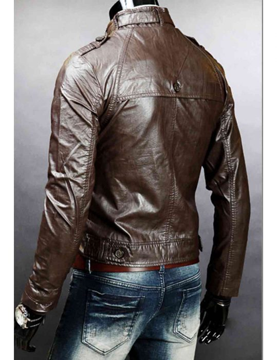 brown slim fit jacket for mens