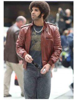 drake leather jacket