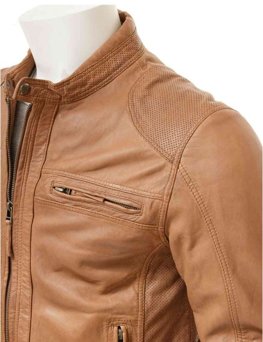 slim fit brown jacket for mens