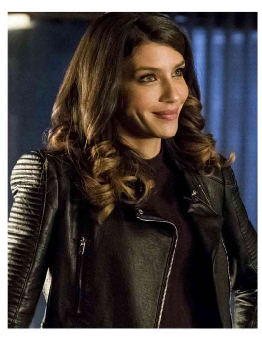 arrow season 6 dinah drake leather jacket