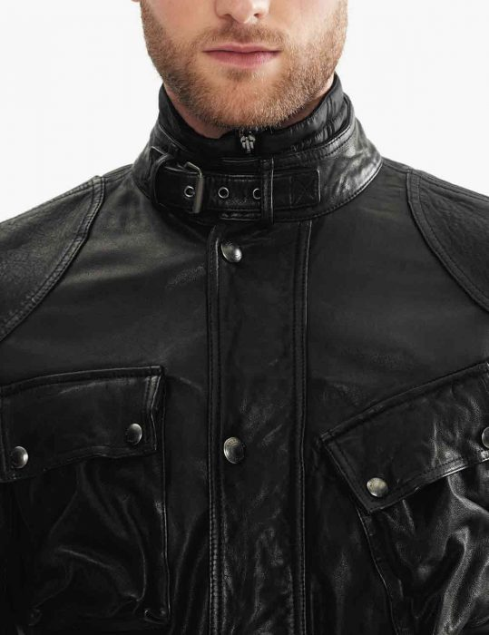 four pocket black jacket for mens